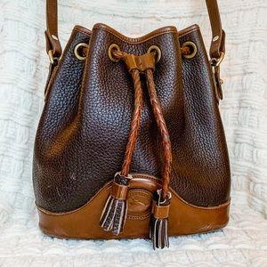 Dooney & Bourke Leather Bucket Crossbody Bag